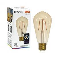TUYA SMART Wi-Fi Żarówka LED dekoracyjna filament E27 5,5W 470lm z bursztynową bańką 313829 Polux