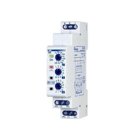 Przekaźnik czasowy wielofunkcyjny 0,1s-10dni 2 kanały REV-120 Novatek Electro