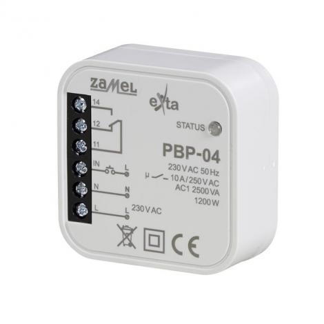 Przekaźnik bistabilny uniwersalny dopuszkowy 230V PBP-04 Zamel