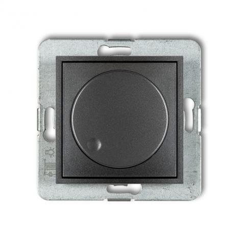 Karlik Mini grafitowy - ściemniacz przyciskowo-obrotowy LED- 11MRO-2 Karlik