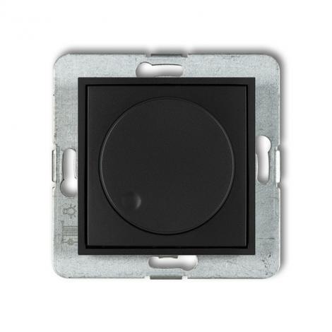 Karlik Mini czarny mat - ściemniacz przyciskowo-obrotowy LED - 12MRO-2 Karlik