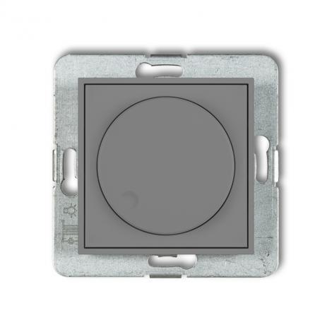 Karlik Mini szary mat - ściemniacz przyciskowo-obrotowy LED - 27MRO-2 Karlik