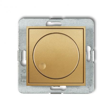 Karlik Mini złoty - ściemniacz przyciskowo-obrotowy LED - 29MRO-2 Karlik