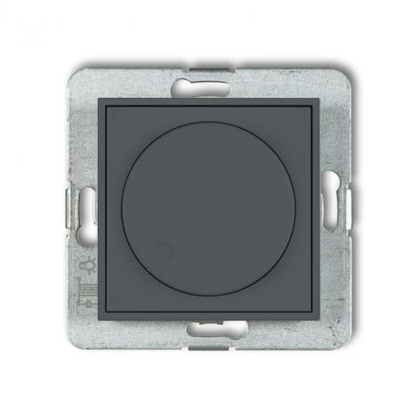 Karlik Mini grafitowy mat - ściemniacz przyciskowo-obrotowy LED - 28MRO-2 Karlik