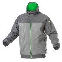 HEINER kurtka przeciwdeszczowaciemno szara/zielona 2XL (56) Hogert